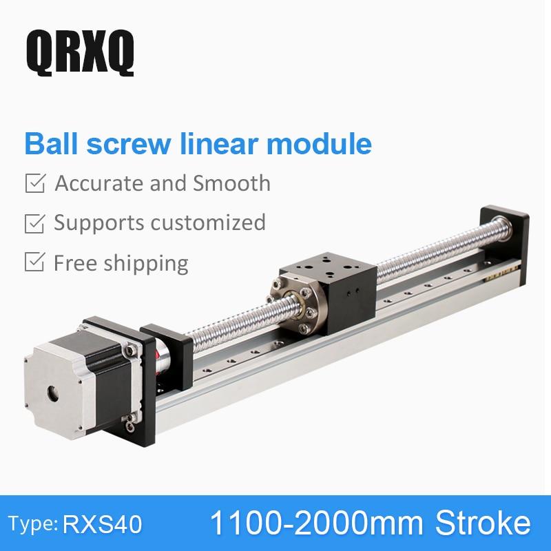1100 - 2000mm C7 DC Linear Actuator Motor Ballscrew Motion Stage Actuator Guide Rail For 3D Printer Robotic Arm Kit