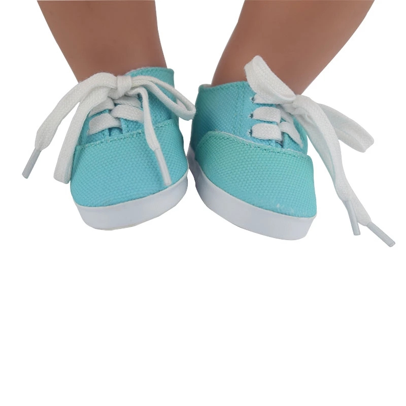 7cm doll shoes for 43cm born baby Doll Shoes sneackers fit For 18 inch Doll shoes Toy Boots Doll Accessories(China)