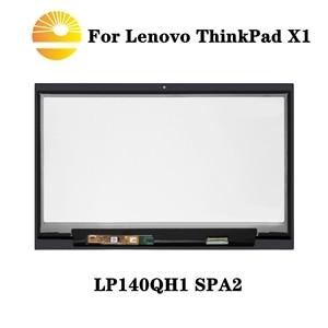 Image 1 - Voor Lenovo X1 Carbon LP140QH1 SPA2 Lcd Touch Screen Digitizer Vergadering Met Frame Bezel LP140QH1 (Sp)(A2) Vervanging