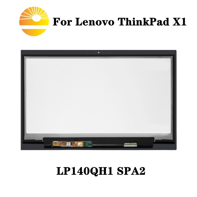 Voor Lenovo X1 Carbon LP140QH1 SPA2 Lcd Touch Screen Digitizer Vergadering Met Frame Bezel LP140QH1 (Sp)(A2) Vervanging