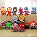 2020 Новый 12 видов стилей 25 см Марвел Мститель паук Капитан Америка Локи Мягкие плюшевые игрушки для детей «Халк», «Тор», «Рождество