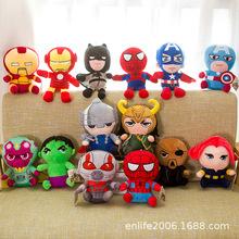 2020 nowy 12 style 25cm Marvel Avenger Spider-Man Iron Man Us kapitan ameryka Loki miękkie pluszowe zabawki dzieci Hulk Thor boże narodzenie tanie tanio Disney COTTON CN (pochodzenie) Pp bawełna 0-12 miesięcy 13-24 miesięcy 2-4 lat 5-7 lat 8-11 lat 12-15 lat Dorośli Unisex