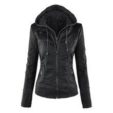 Готическая куртка из искусственной кожи, женские толстовки, зимняя Осенняя мотоциклетная куртка, черная верхняя одежда из искусственной кожи, куртка из искусственной кожи