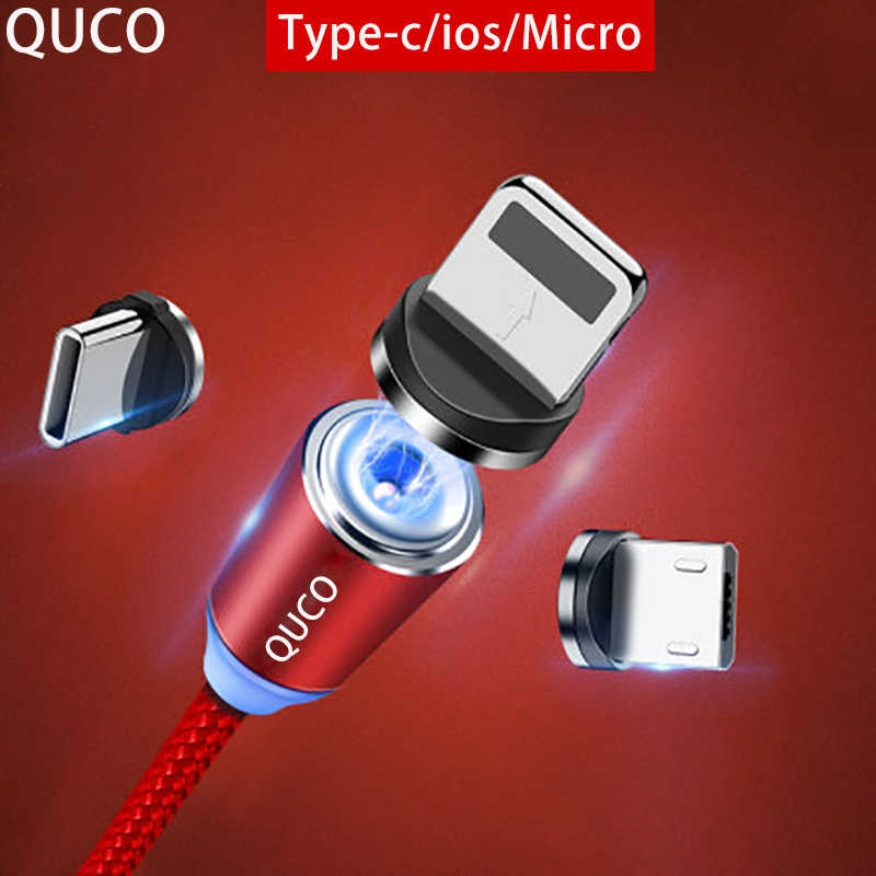 QUCO brand  Magnetic USB Cable Fast Charging USB Type C Cable Magnet Charger Data Charge Micro USB Cable Mobile Phone Cable USB