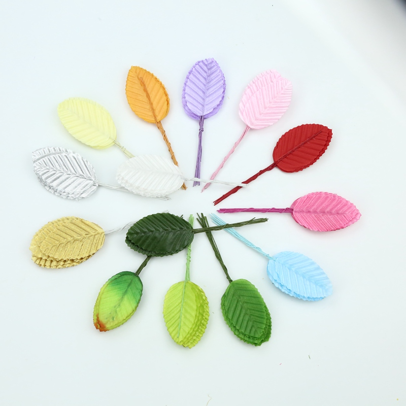 200PCS Wholesale Artificial Plants Wedding Decorative Flowers Wreaths Diy Gifts Box Christmas Decorations For Home Fake Leaf