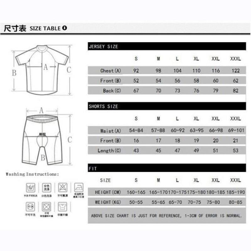 短套装尺码表1