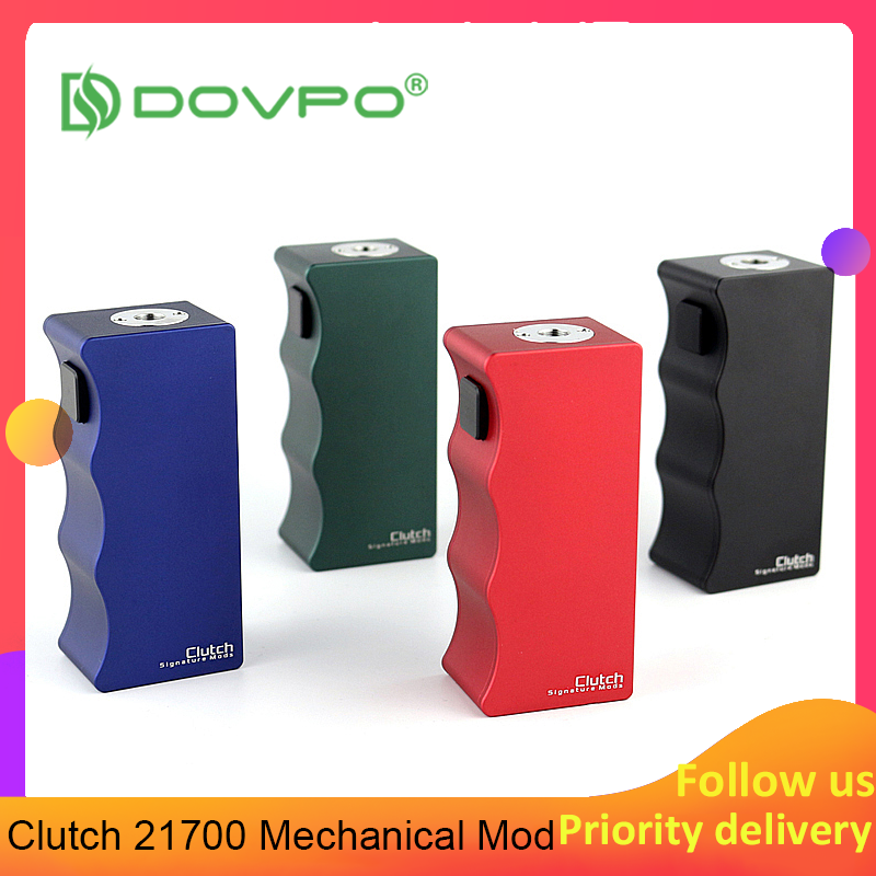 NEW Original Dovpo Clutch 21700 Mechanical Mod Powered By Single 21700 Battery E Cigarette Box MOD Vs Mono SQ DNA Vape Mod