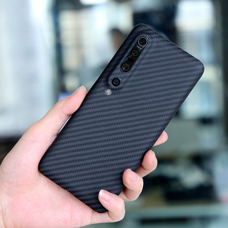 Aramid carbon fiber Back Cover For xiaomi mi 9 10 se pro Protective Case Mi9 Cases and covers bumper Official Design