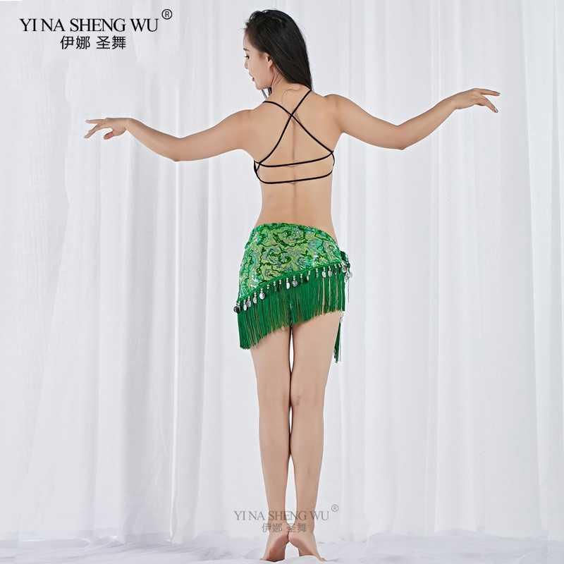 נשים חגורת ריקודי בטן צעיף ירך ריקודי בטן אביזרי פאייטים ציצית לעטוף תלבושות חגורת צעיף שיפון פרינג 'צעיף 2019 חדש