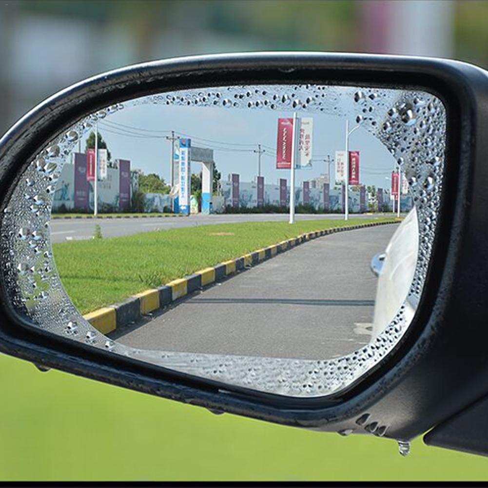 Auto Achteruitkijkspiegel Waterdicht En Anti-Mist Regen-Proof Film Zijruit Glas Film EEN Verscheidenheid Van Grootte specificaties EEN Paar