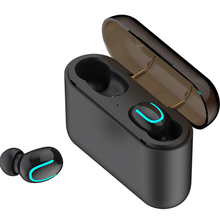 Q32 Wireless Bluetooth 5.0 Earphones TWS Sports In Ear Earbuds Stereo Bass Headset 1500mAh Charging Case Power Bank VS i1000 leegoal mini wireless bluetooth 4 1 earphones sports stereo earbuds in ear headphone headset 900mah power bank for android ios