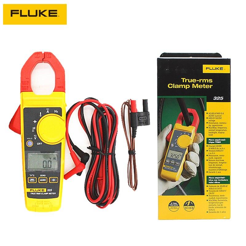Токометр Fluke 325 True RMS, измеритель напряжения и тока переменного тока, сопротивление тестера, емкость, частота, температура, мультиметр, ручной