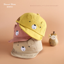 цены hat  2020 Spring  Pure Cotton Soft Eaves Cartoon Bear Men And Women Baby Baseball Cap Children Brim cap