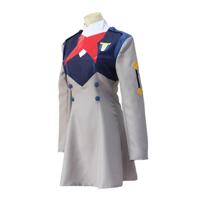 Image 4 - Anime DARLING in the FRANXX Code002 Cosplay Red Gray Dress Cute Work Uniform Party Sexy CostumeGame Costumes   -