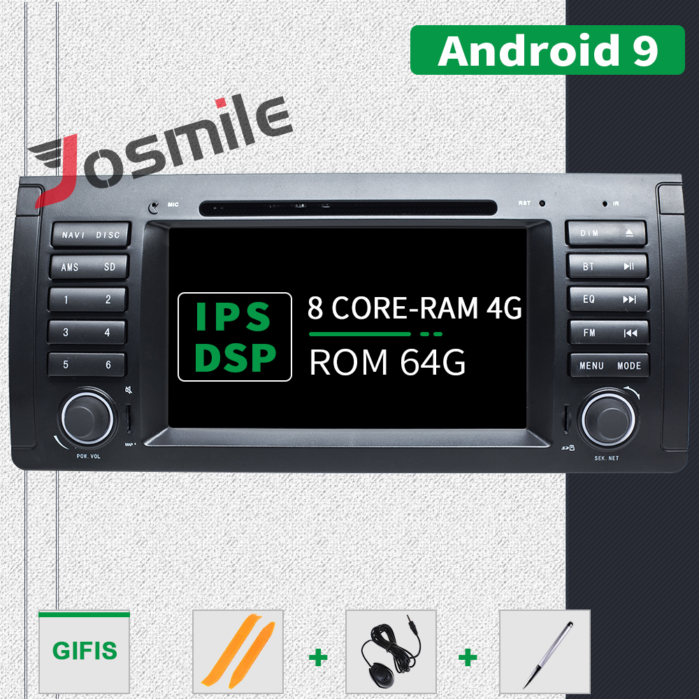 IPS DSP Qcta Core RAM 4G ROM 64G Android 9.0 Car DVD Player For BMW <font><b>X5</b></font> <font><b>E53</b></font> BMW E39 1 Din Auto Radio USB DVR Camera OBD Carplay image
