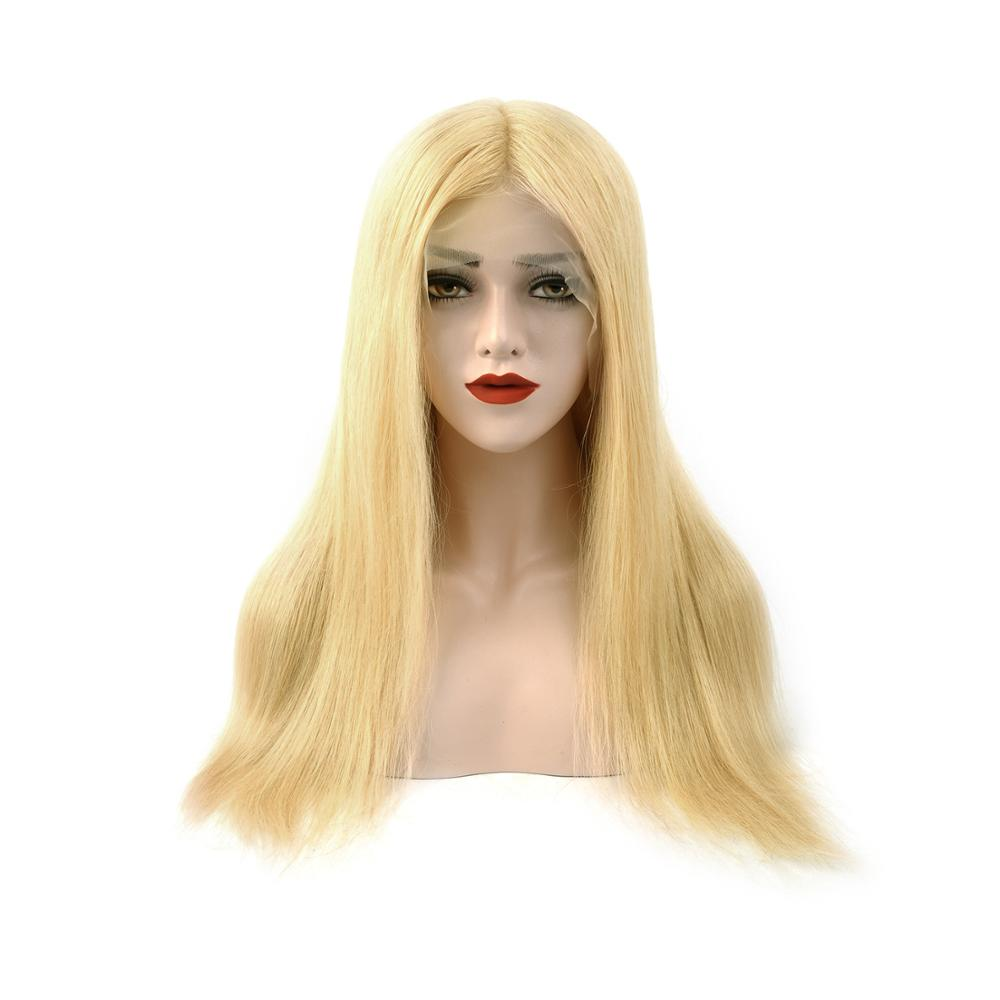 Vlasy 20''  Remy Human Hair HD Lace Front Wig Half Lace Wig Invisible Pre-Plucked Hairline Transparent Straight Hair Extensions