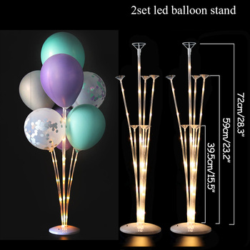 LED Light Air Balls Balloon Stand Column Wedding Table Decoration Balloons Holder Christmas Baloon Baby Shower Birthday Party 9