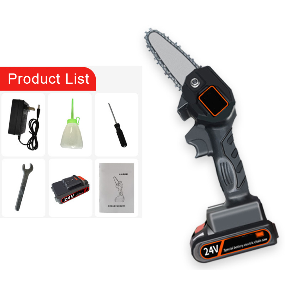 Tools : 4 Inch The Mini Electric Chainsaw Ever Battery-Powered Wood Cutter Rechargeable QP2