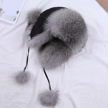 Fur Hat for Women Natural Raccoon Fox Fur Russian Ushanka Hats Winter Thick Warm Ears Fashion Aviator trapper Bomber Snow Cap стоимость