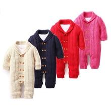 Dollplus/для новорожденных; комбинезон для младенцев мальчиков девочек зимний свитер из плотного хлопка для детей комбинезоны для малышей Детский комбинезон