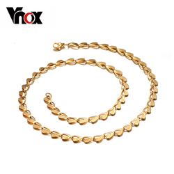 10Pcs/lots Wholesale 20inch Leaf Chain Gold Color Choker Necklace Statement Jewelry