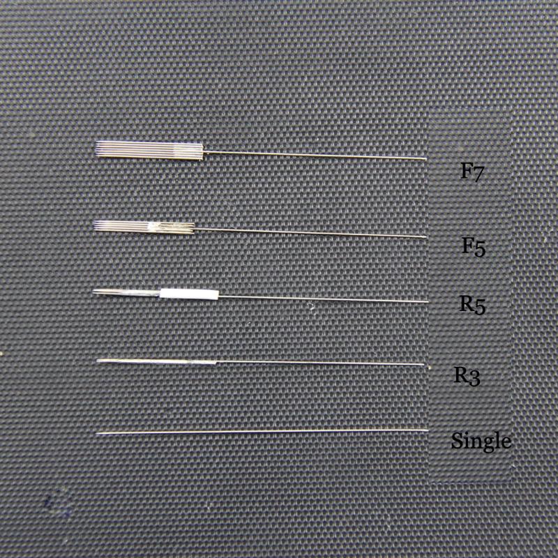 Image 5 - Disposable Sterilized Professional Tattoo Needles 3/5 1RL F3/5 For Tattoo Eyebrow Pen Machine Permanent Makeup Kit 50pcs PMU nee-in Tattoo Needles from Beauty & Health