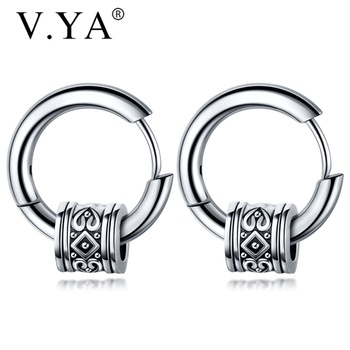 V YA Cool Punk Men s Stainless Steel Hip Hop Stud Earrings Round Earring Pendant For.jpg 350x350 - V.YA Cool Punk Men's Stainless Steel Hip Hop Stud Earrings Round Earring Pendant For Men Earings Jewelry Sliver Plated For Gifts