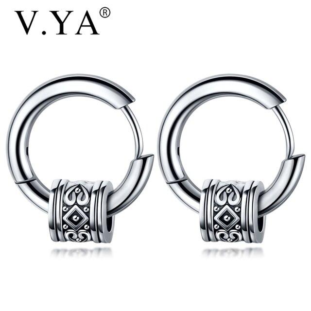 V YA Cool Punk Men s Stainless Steel Hip Hop Stud Earrings Round Earring Pendant For.jpg 640x640 - V.YA Cool Punk Men's Stainless Steel Hip Hop Stud Earrings Round Earring Pendant For Men Earings Jewelry Sliver Plated For Gifts