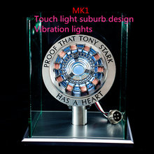 Model-Toys Chest-Lamp Remote-Light Action-Figure Arc-Reactor Metal Super-Hero MK1 1:1