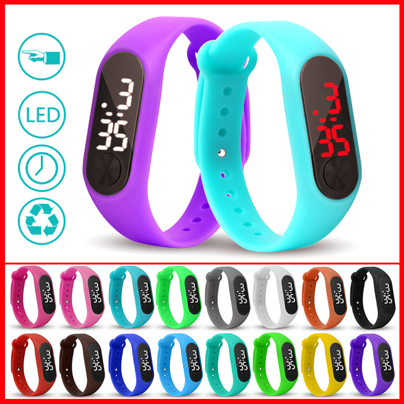 New LED Digital Wrist Watch Bracelet Kids Outdoor Sports Watch For Boys Girls Electronic Kids Digital Watch Boys Girls