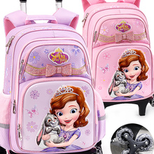 School-Bag Trolley Girls Backpack Children's Disney Ice And Authorized Pupils Snow-Sophia