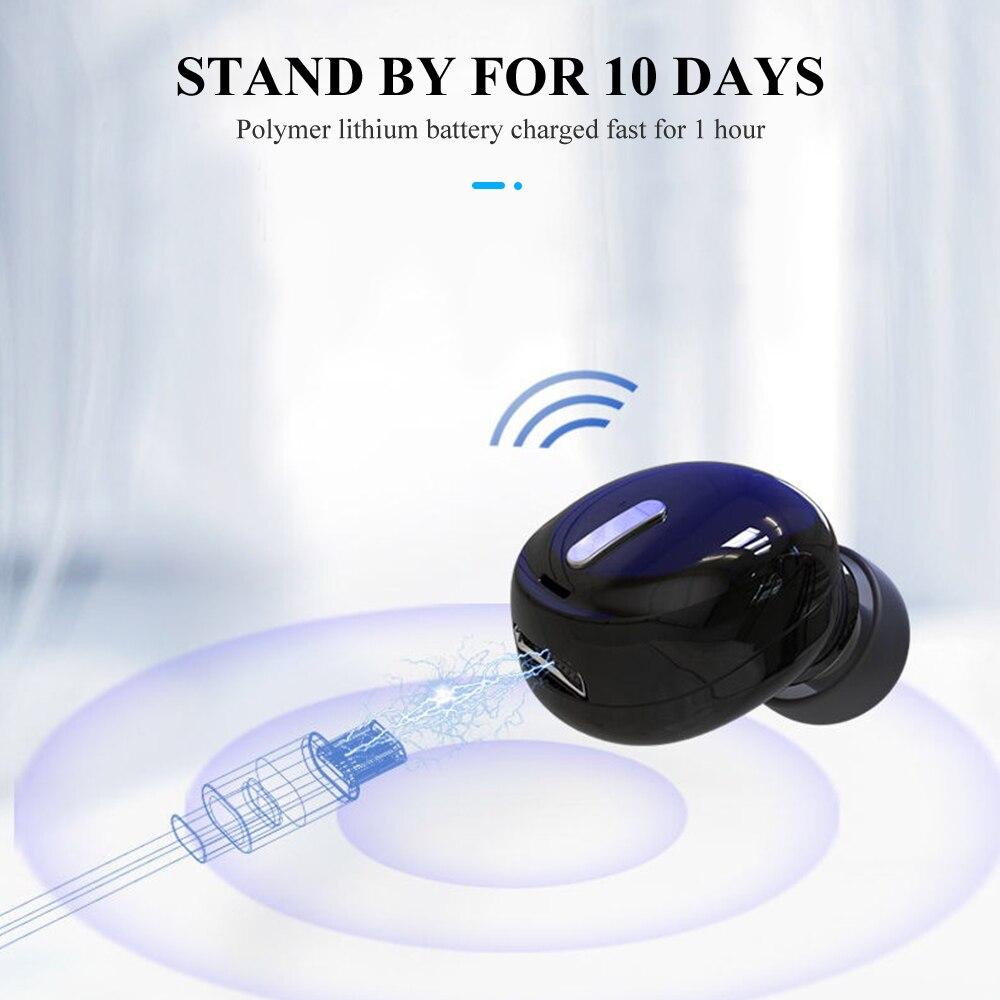 Купить с кэшбэком 1pc Mini X9 Wireless Earbuds Noise Reduction Bluetooth Earphone 5.0 TWS Comfortable to Wear In-ear 3d sound For Sport Hiking