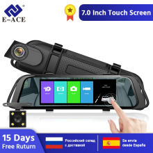E-ACE A31 Car DVR Mirror Camera Video Registrator with Rear View 1080P 7Inch Touch Screen Dashcam DVRs Recorder