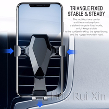 Trend Car Phone Holder for iPhone X XS MAX,ROCK Gravity Air Vent Mount Holder for Phone in Car Mobile Phone Holder Stand for Sam все цены