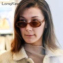 여성 90 년대에 대한 LongKeeper 2020 작은 타원형 선글라스 여성 남성 레트로 빈티지 태양 안경 여성 블랙 화이트 핑크 클리어 차양