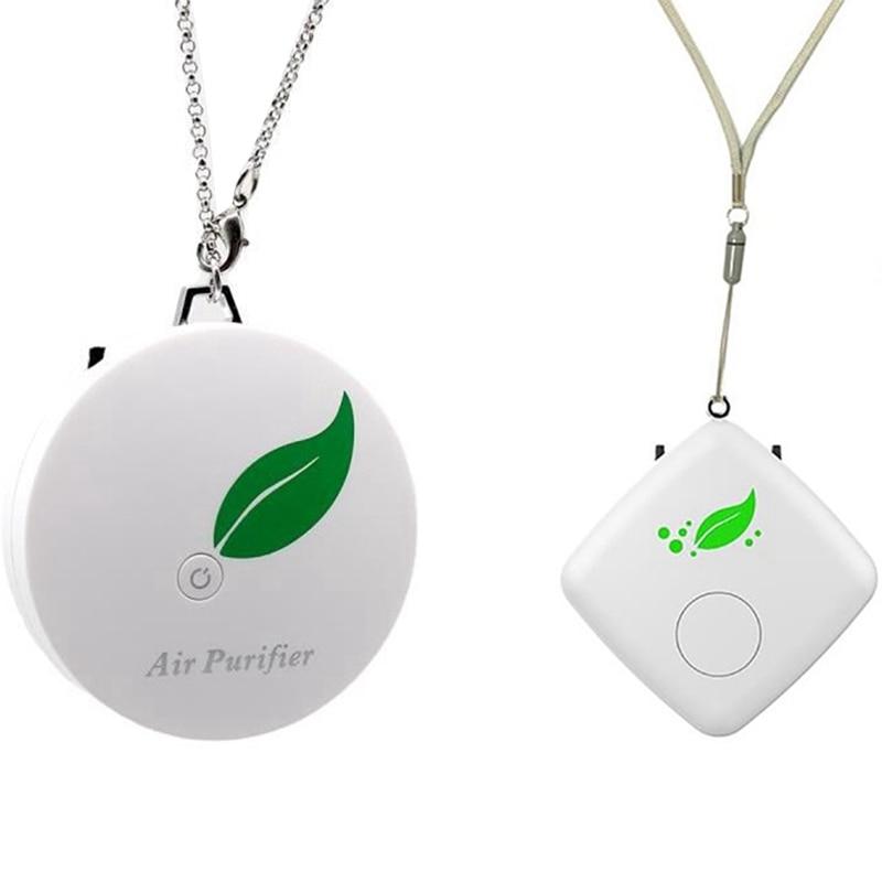 Персональный воздухоочиститель портативный, USB Перезаряжаемый очиститель воздуха, ионный очиститель для маленькой комнаты и автомобиля