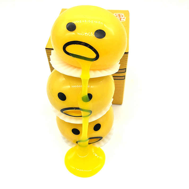Squishy Vomitive żółtko jaja żółty leniwe jajko żart zabawki piłka jajko wycisnąć śmieszne zabawki antystresowe całej osoby wymioty obrzydliwe jaj