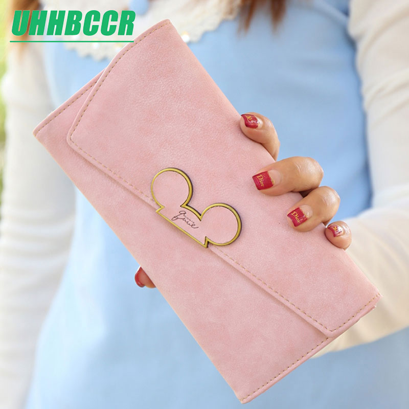 Women Long Wallet Cartoon Mickey Cute Coin Purse Hasp Card Holder Womens Wallets And Purses Female Wallets Famous Brand