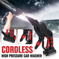 4000235655456 - 20V 2.6MPa inalámbrico de mano de coche de presión lavadora limpio para la limpieza del coche para lavar pistola Punta de boquillas 6m Filtro de tubo