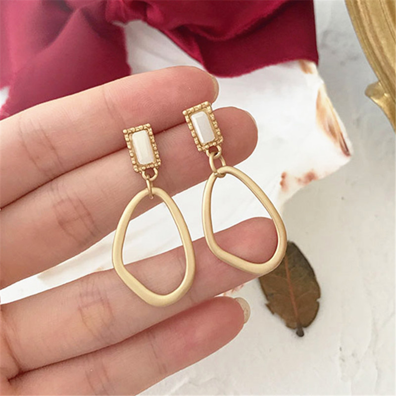 Creative Joker Metal Texture Beautiful Irregular Geometrical Earrings European Fashion Stud Earrings For Women Fine Jewelry
