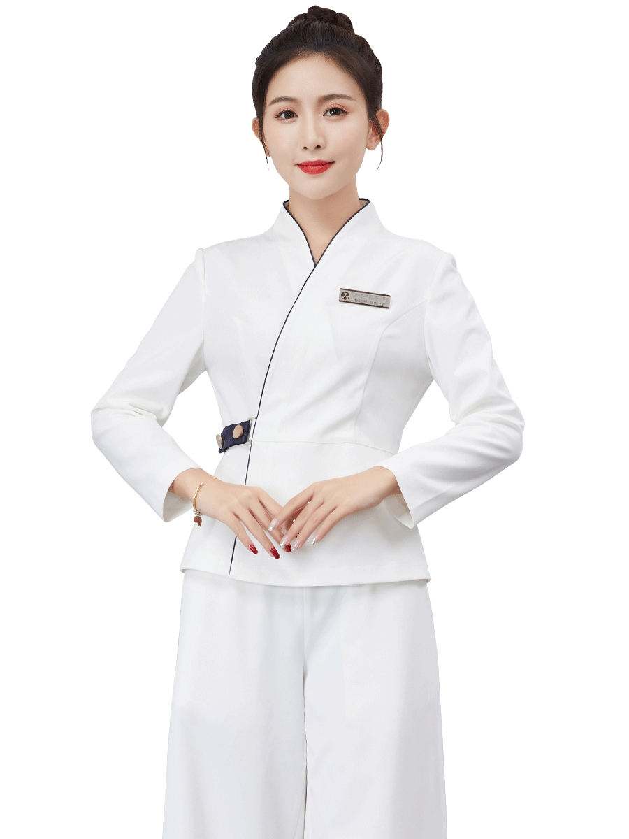 Hotel Workwear Female Fall And Winter 2019 New Cosmetologist Waiter Cleaning Foot Therapist Long Sleeve Workwear
