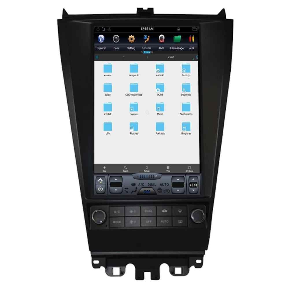 Android автомобильный видеорегистратор 8,1 Tesla стиль Автомобильная Мультимедийная система gps трекер для HONDA ACCORD 7 семь 2003-2007 Автомагнитола