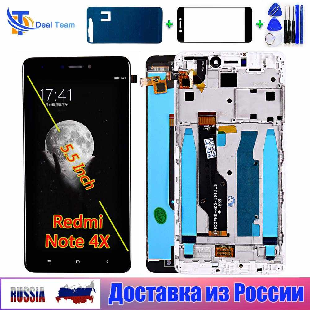 Lcd Display Voor Xiaomi Redmi Note 4X / Note 4 Global 5.5 Inch Touch Screen Digitizer Vergadering Frame Voor Xiaomi redmi Note 4X Lcd