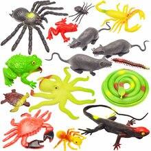 Jouet de simulation d'insecte en caoutchouc souple, grosse araignée, scorpion, serpent, Halloween