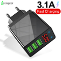 Быстрое зарядное устройство 3.04.0 USB, зарядное устройство для iphone, Samsung, планшета, ЕС, США, настенный мобильный телефон, адаптер для быстрой зар...