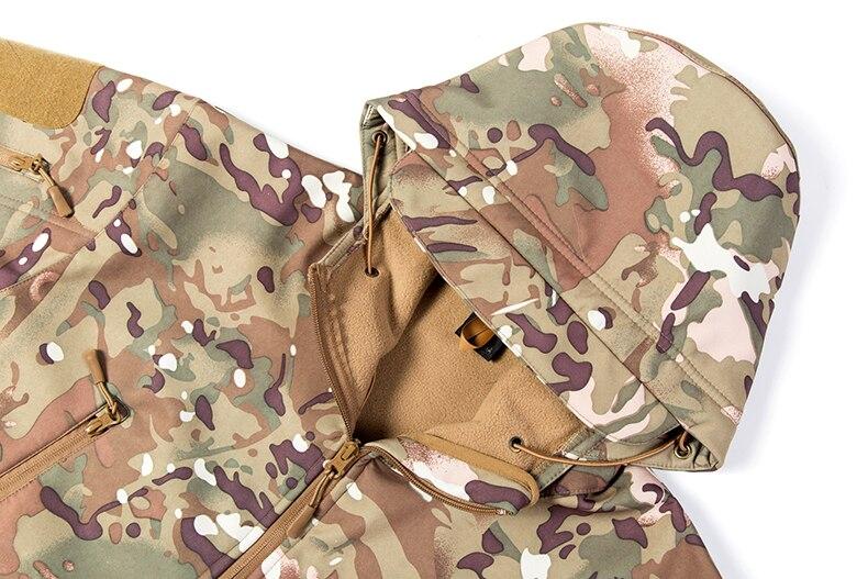 tubarão escudo macio uniforme militar à prova