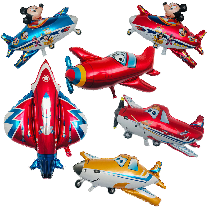 1PC 3D Aircraft Collection Balloon Aluminum Foil Plane Balloons Birthday Party Decorations Kids Toys Globos