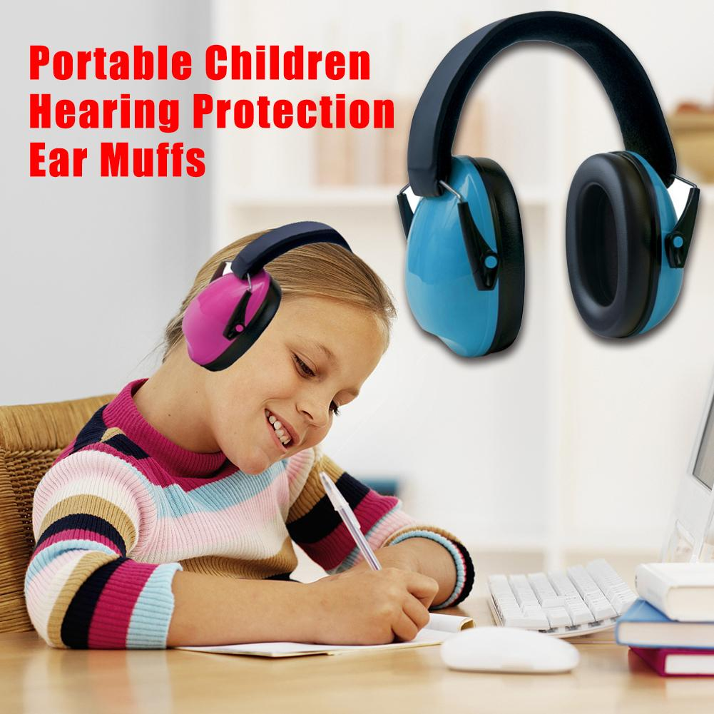 Portable <font><b>Children</b></font> Hearing Protection Ear Muffs Adjustable Headband Ear Defenders image