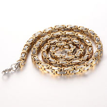 Ожерелье из нержавеющей стали для мужчин византийская цепь золотого