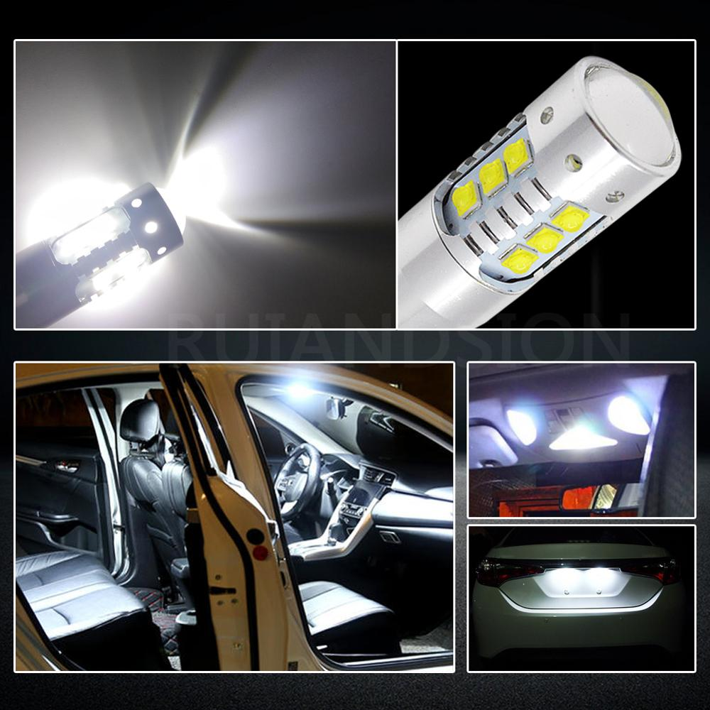 T10 W5W 501 LED CANBUS 57 SMD CREE BRIGHT WHITE CAR INTERIOR SIDE LIGHT BULBS